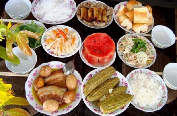 Các món trong mâm cơm cúng giỗ miền Trung